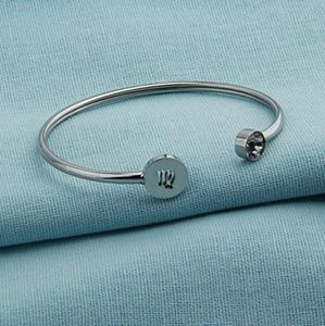 Virgo horoscope cuff bracelet